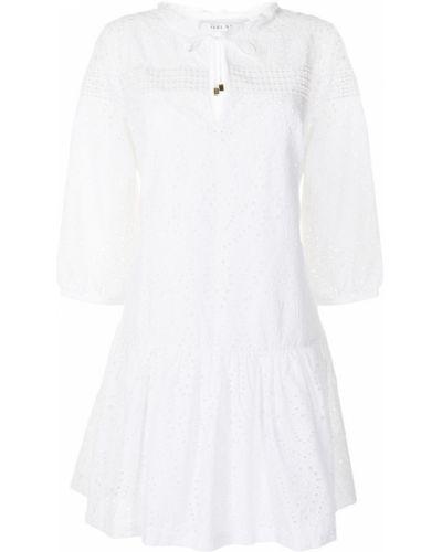 Хлопковое платье миди - белое Heidi Klein