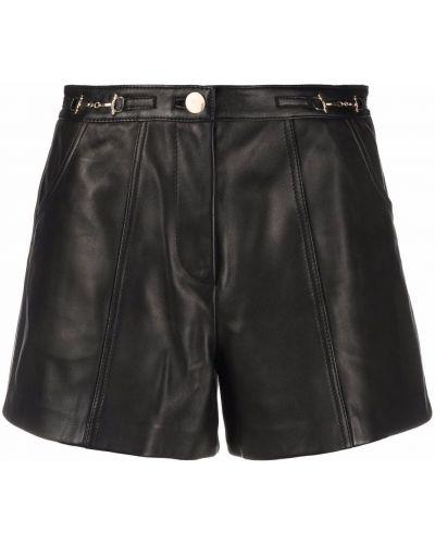 Кожаные шорты - черные Maje