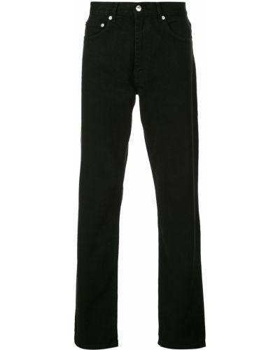 Черные прямые джинсы на пуговицах с жемчугом с карманами Second/layer
