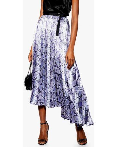 Плиссированная юбка фиолетовый Topshop