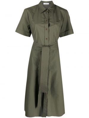 Зеленое платье мини с воротником на пуговицах P.a.r.o.s.h.