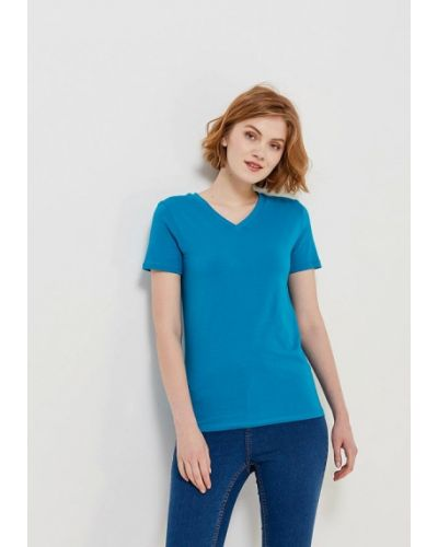 Голубая футболка Modis