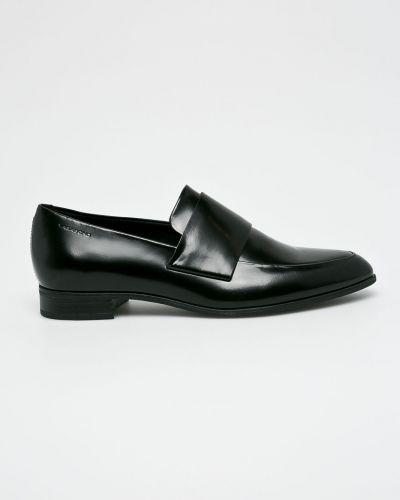 Черные мокасины кожаные Vagabond