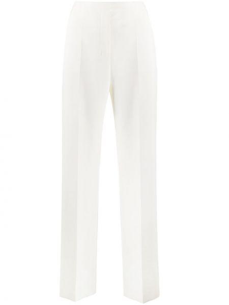 Со стрелками расклешенные брюки с высокой посадкой из вискозы Boss Hugo Boss