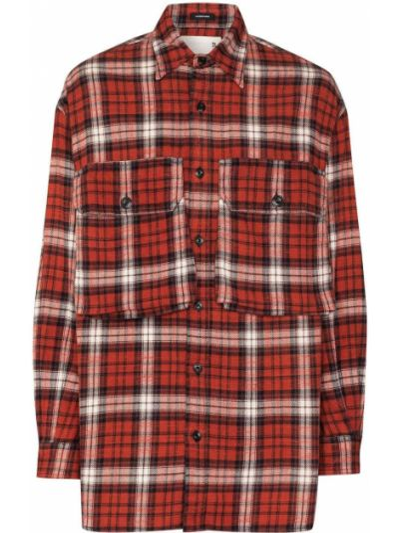 Рубашка оверсайз - красная R13
