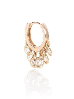 Желтые классические серьги-кольца Jacquie Aiche