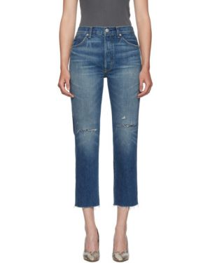 Прямые джинсы стрейч mom Amo