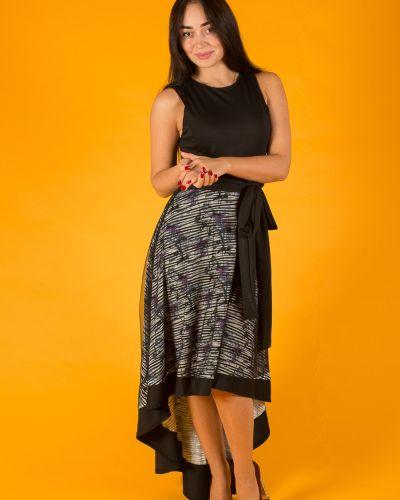 Платье с поясом каскадное без рукавов Lacywear
