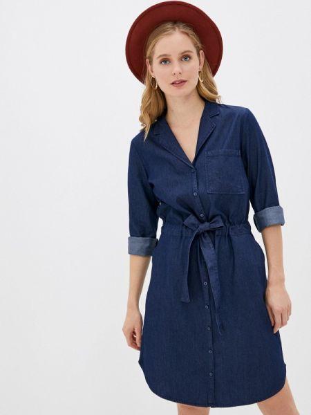 Синее джинсовое платье Pimkie