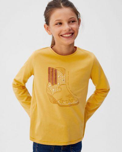 Блуза желтый с кисточками Mango Kids