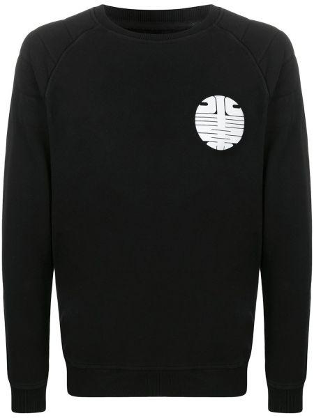 Czarna bluza z haftem z długimi rękawami Hydrogen