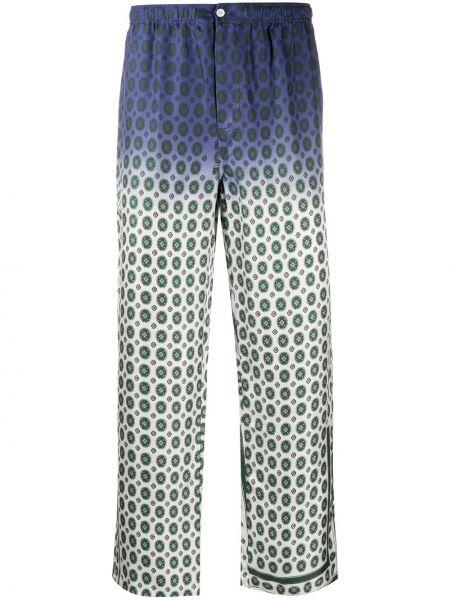 Брючные шелковые белые укороченные брюки свободного кроя Soulland