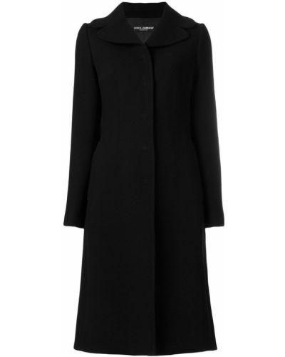 Длинное пальто на кнопках классическое однобортное Dolce & Gabbana