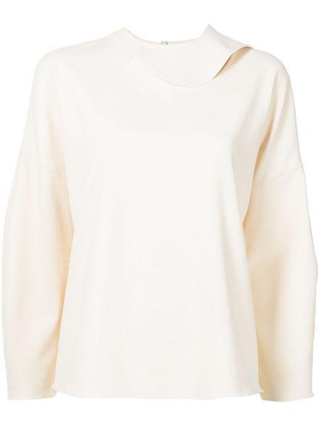 Biała koszulka z długimi rękawami Tibi
