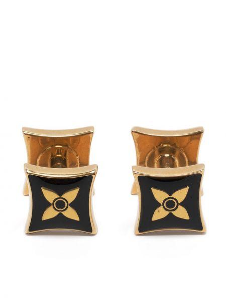 Złote spinki do mankietów - czarne Louis Vuitton