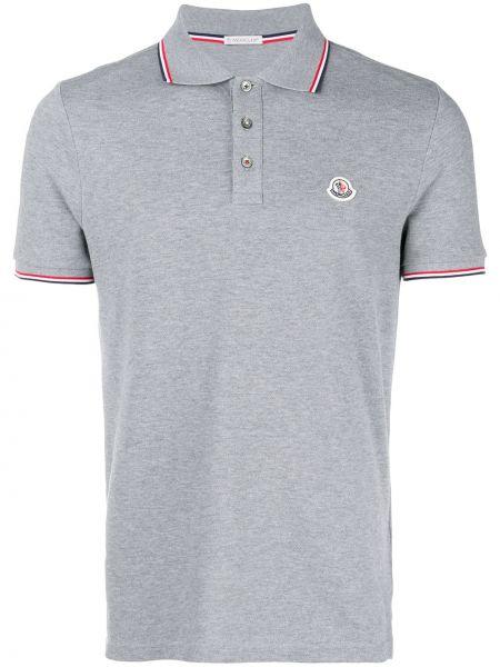 Koszula krótkie z krótkim rękawem klasyczna w paski Moncler