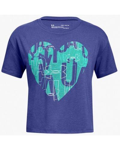 Фиолетовая футболка спортивная Under Armour