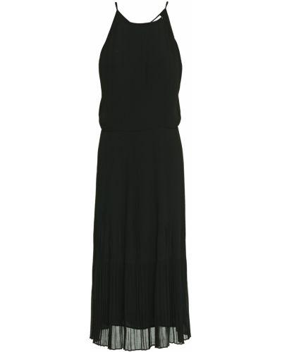 Открытое шифоновое черное платье миди SamsØe Φ SamsØe
