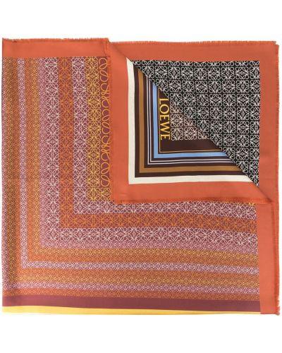Платок коричневый Loewe