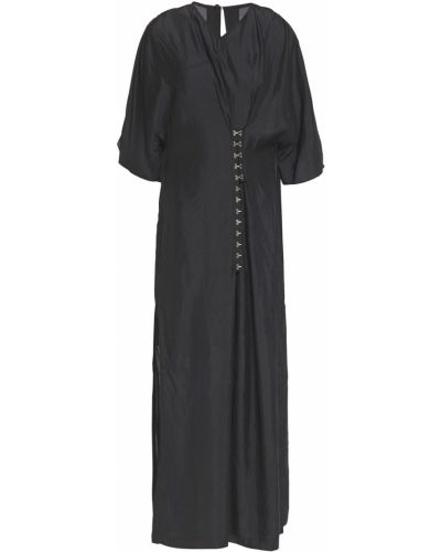 Облегченное черное платье макси из крепа Mcq Alexander Mcqueen
