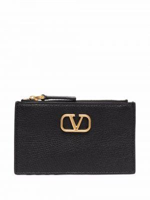 Кожаный кошелек золотой со шлицей Valentino Garavani