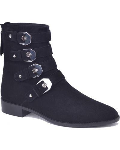 Кожаные ботинки на каблуке осенние Stuart Weitzman