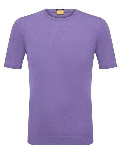 Фиолетовый хлопковый джемпер Svevo