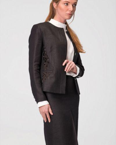 Черный пиджак осенний Garmoniya