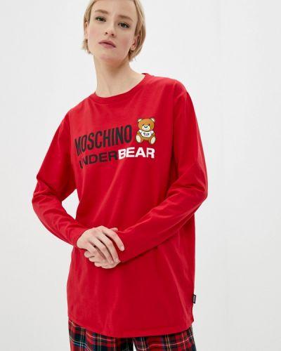 Красный лонгслив Moschino Underwear