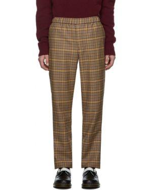 Шерстяные брючные серебряные брюки с карманами Schnaydermans