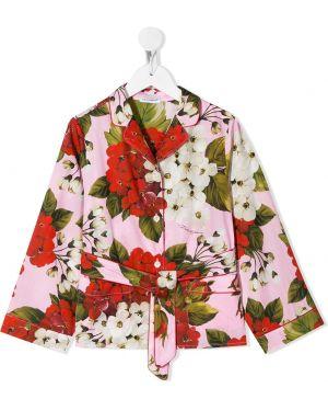 Зеленая блузка Dolce & Gabbana