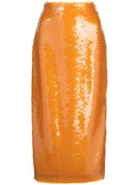 Юбка карандаш - оранжевая Prabal Gurung