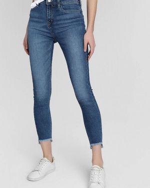 Синие джинсы-скинни с пайетками O'stin