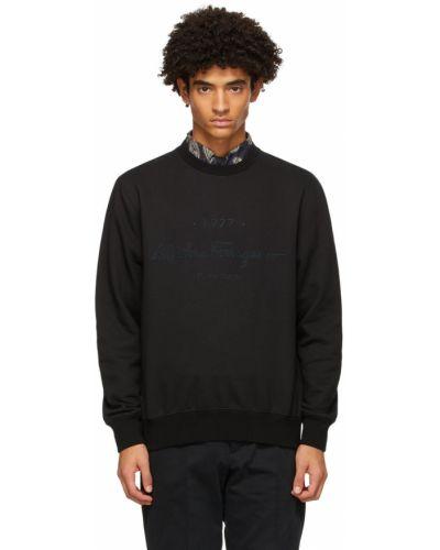 Czarna bluza długa z długimi rękawami bawełniana Salvatore Ferragamo