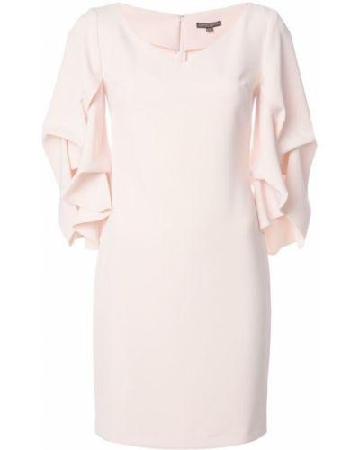 Плиссированное розовое платье мини на молнии Alberto Makali