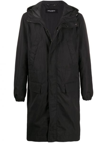 Długi płaszcz z kapturem kurtka grochowa Dolce And Gabbana