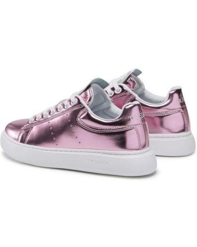 Różowe sneakersy Trussardi