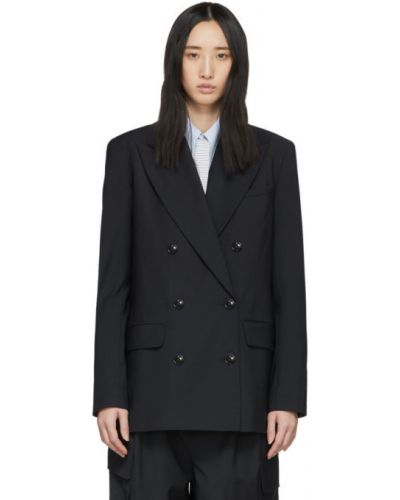 Пиджак черный в полоску Tibi