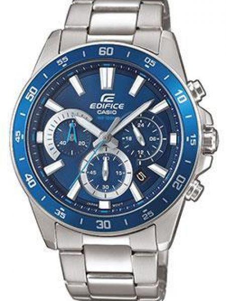Часы водонепроницаемые стрелочные серые Casio