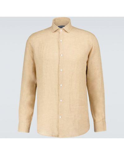 Beżowa klasyczna koszula Frescobol Carioca