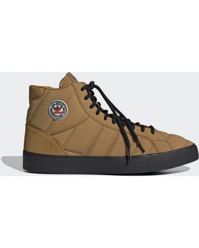 Замшевые черные высокие кроссовки винтажные Adidas