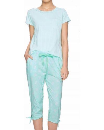Zielona piżama bawełniana krótki rękaw Atlantic