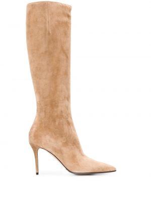 Кожаные сапоги на каблуке на высоком каблуке Le Silla