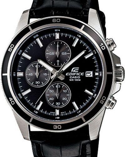 Часы водонепроницаемые с кожаным ремешком спортивные Casio