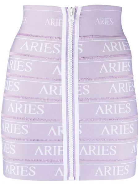 Фиолетовая юбка с вышивкой стрейч Aries