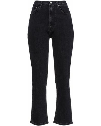 Czarne mom jeans z paskiem bawełniane Mcq Alexander Mcqueen