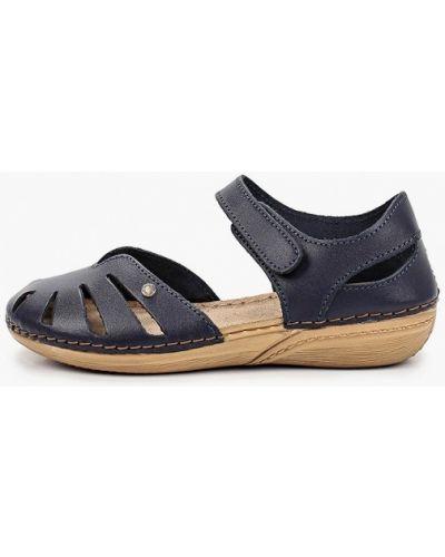 Кожаные синие туфли Inblu