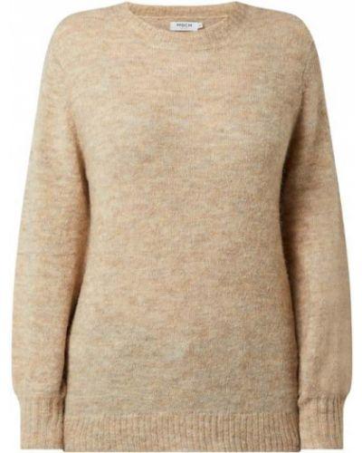 Prążkowany beżowy sweter wełniany Moss Copenhagen