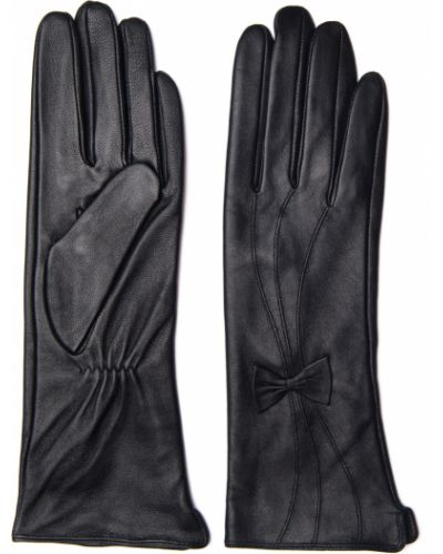 Кожаные черные перчатки Hannelore