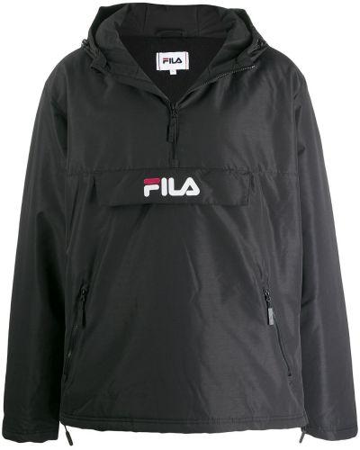 Anorak kurtka z kapturem czarny Fila